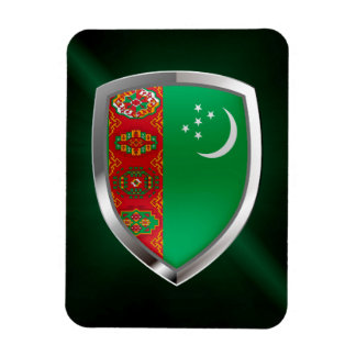 Turkmenistan Metallic Emblem Magnet