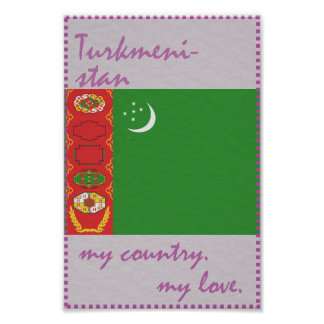 Turkmenistan My Country My Love Poster