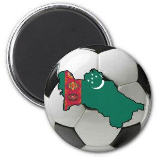 Turkmenistan national team 6 cm round magnet