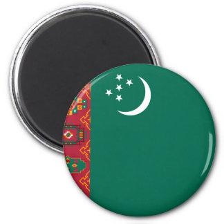 Turkmenistan, Turkey flag 6 Cm Round Magnet