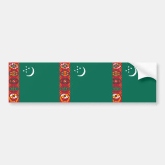 Turkmenistan, Turkey flag Bumper Sticker