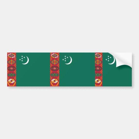Turkmenistan, Turkey flag Bumper Sticker