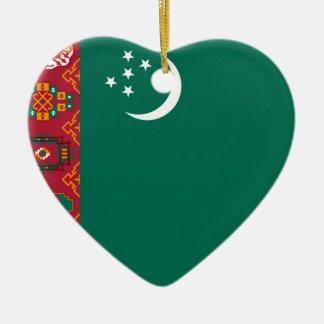 Turkmenistan, Turkey flag Christmas Ornament