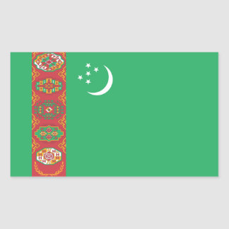 Turkmenistan/Turkmen Flag Rectangular Sticker