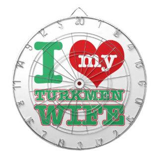 Turkmenstan wife dartboard
