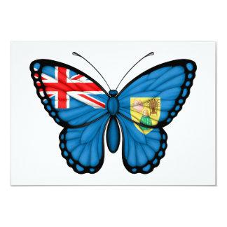 Turks and Caicos Butterfly Flag Custom Invitations
