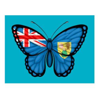 Turks and Caicos Butterfly Flag Postcard