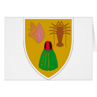 Turks and Caicos Coat of Arms Greeting Card