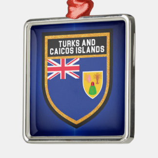Turks And Caicos Flag Christmas Ornament