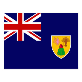 Turks and Caicos Flag Post Card