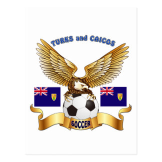 Turks and Caicos Football Designs Postcard