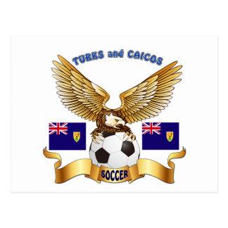 Turks and Caicos Football Designs Postcard