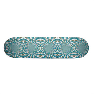 Turks and Caicos from above kaleidoscope board Custom Skateboard