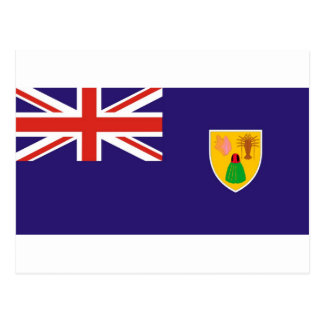 Turks and Caicos Island flag Post Cards