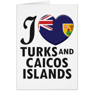 Turks and Caicos Islands. Greeting Card
