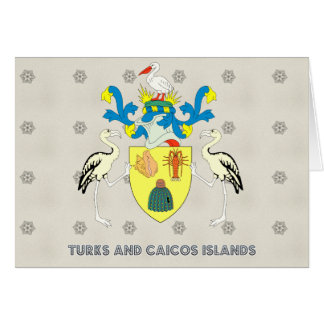 Turks and caicos islands coat of arms card