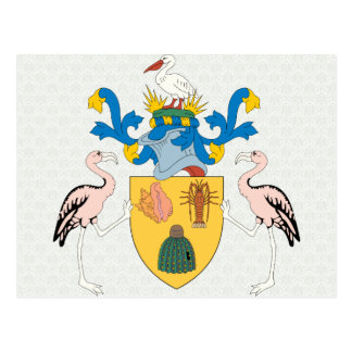 Turks And Caicos Islands Coat of Arms detail Postcards