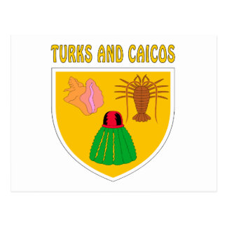 Turks and Caicos Islands Coat Of Arms Postcard