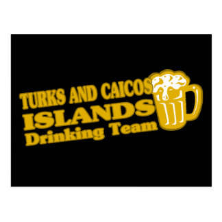 Turks and Caicos Islands Drinking Team Post Card