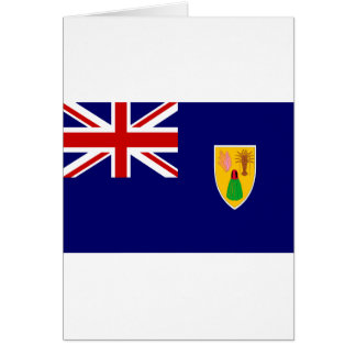 Turks And Caicos Islands Flag Greeting Card