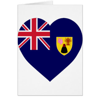 Turks and Caicos Islands Flag Heart Greeting Cards