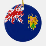 Turks and Caicos Islands Gnarly Flag Christmas Tree Ornament