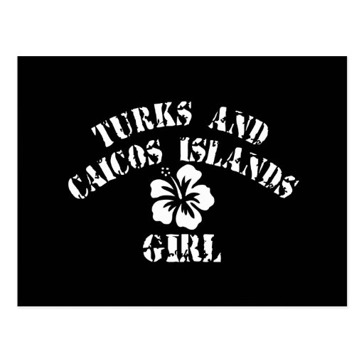 Turks and Caicos Islands Pink Girl Post Cards