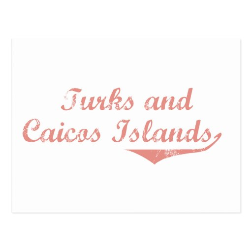 Turks and Caicos Islands Revolution Style Post Card