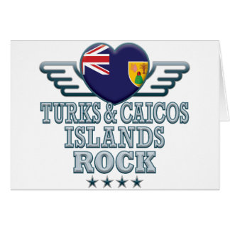 Turks and Caicos Islands Rock v2 Greeting Card