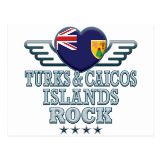 Turks and Caicos Islands Rock v2 Postcard