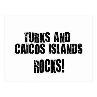 Turks and Caicos Islands Rocks Post Card