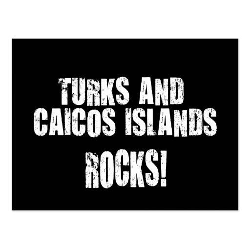 Turks and Caicos Islands Rocks! Postcard