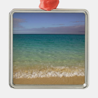 Turks and Caicos, Providenciales Island, Grace 2 Silver-Colored Square Decoration