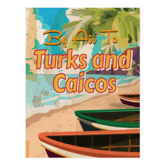 Turks and Caicos Vintage Travel Poster Postcard