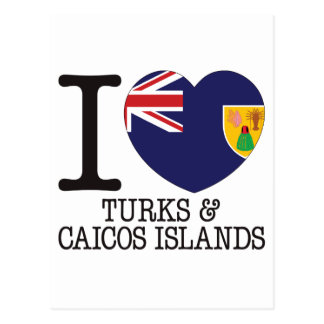 Turks Caicos and Islands Love v2 Post Cards