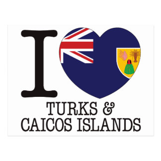 Turks Caicos and Islands Love v2 Post Card