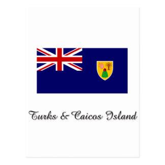 Turks & Caicos Island Flag Design Postcards