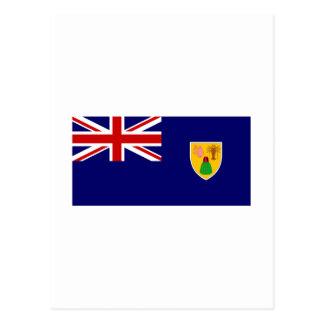 Turks Caicos Island FLAG International Postcards