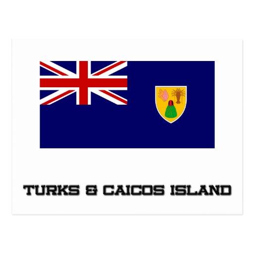 Turks & Caicos Island Flag Postcards