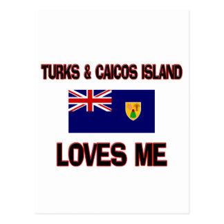 Turks & Caicos Island Loves Me Post Cards