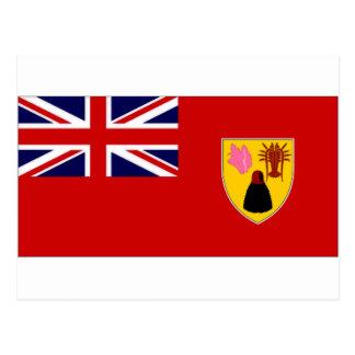 Turks Caicos Islands Civil Ensign Postcard