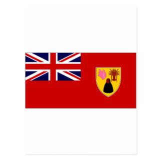 Turks Caicos Islands Civil Ensign Postcards