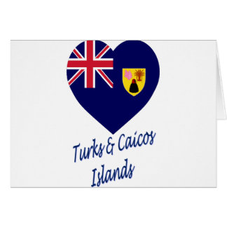 Turks & Caicos Islands Flag Heart Card