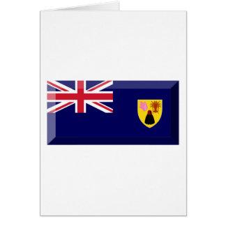 Turks & Caicos Islands Flag Jewel Greeting Card