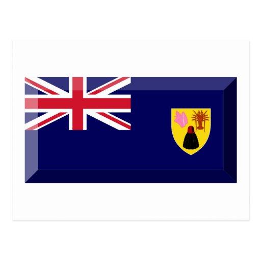 Turks & Caicos Islands Flag Jewel Post Card