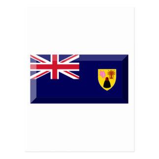 Turks Caicos Islands Flag Jewel Postcards