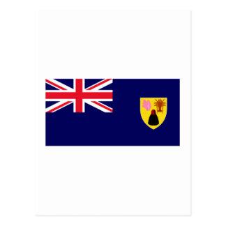 Turks Caicos Islands Flag Post Cards