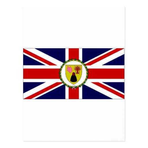Turks Caicos Islands Governor Flag Postcard