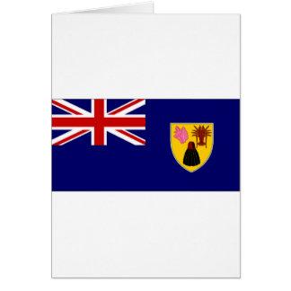 Turks Caicos Islands National Flag Greeting Cards
