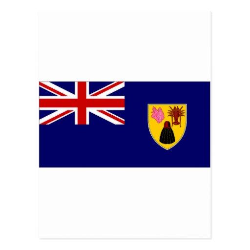 Turks Caicos Islands National Flag Postcard